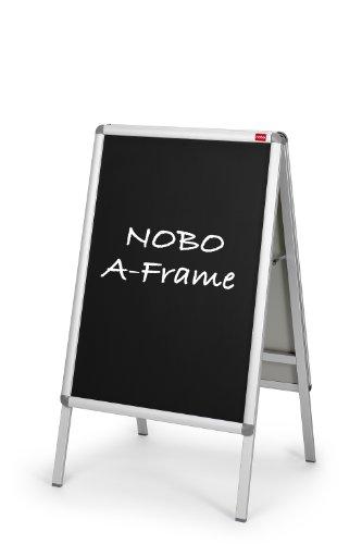 Nobo 1902436 Kreidetafel-Einleger für Plakatständer (DIN A1) 2 Stück schwarz