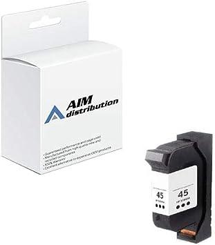 10 51645A 45 BLACK Ink Printer Cartridge for HP Designjet 750c Plus 700  895cse