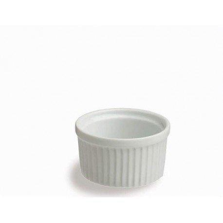 Ramequin costolato cm.8 in porcellana set 6 pezzi Tognana
