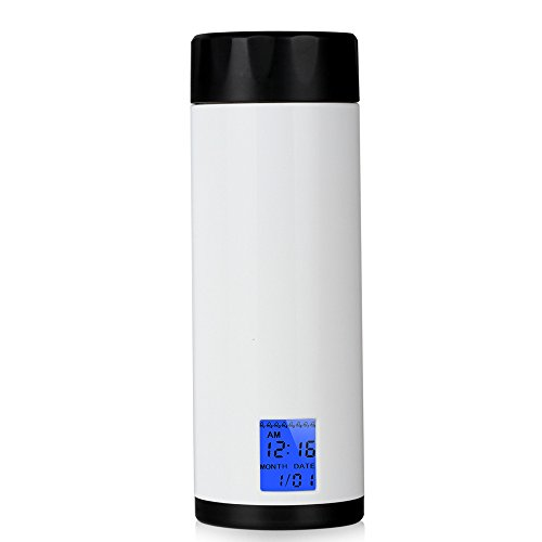 KIKIGOAL Drink Water Reminder, 320ml Smart Cup Health Sensor 8 times Drinking Reminder Alarm with LED Screen Display