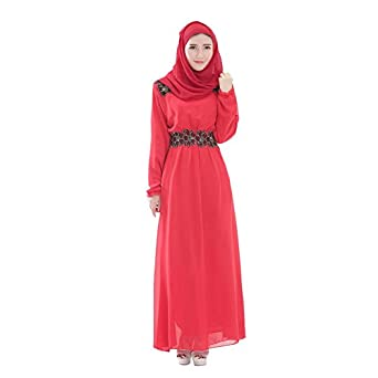 ROMANTIC BEAR Muslim Kaftan Abaya Jilbab Islamic Women Cocktail Dress Long Sleeve Vintage Maxi Dress