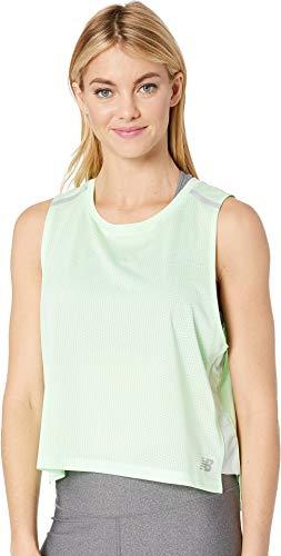 - New Balance Women's Ice 2E Crop Tank Top, Green Flash, Large