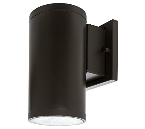 Westgate Lighting Outdoor LED Cylinder Light - Dimmable Up/Down Wall Sconce Lamp Fixture W/COB Technology - CRI80+ IP65 Waterproof (15W Bronze, 3000K Warm White)