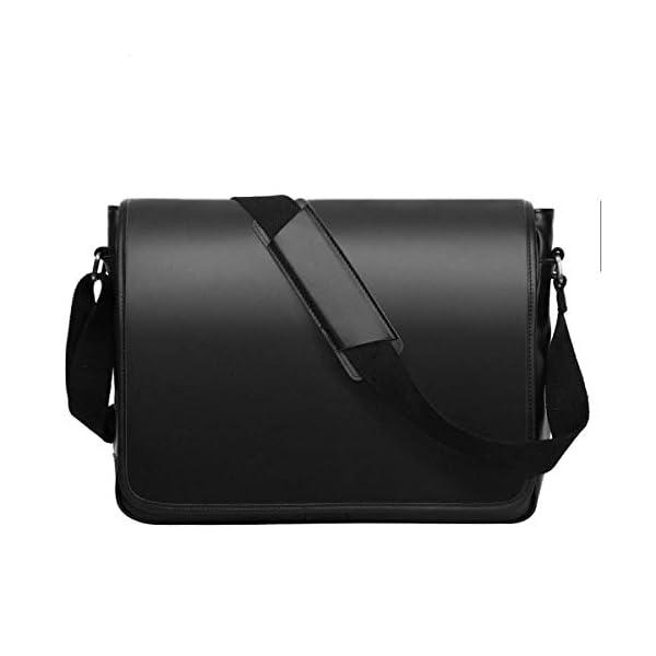 Leathario Sac Business Porte épaule en Cuir Sac Messenger Porte-Documents Besace à épaule Serviette pour Homme