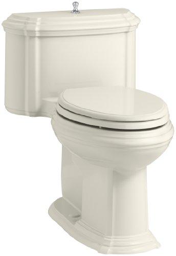 KOHLER K-3826-96 Portrait Comfort Height Compact Elongated 1.28 GPF Toilet with Aqua Piston Flush Technology and Lift Knob Actuator, - Knob Kohler Flush Lift Actuator