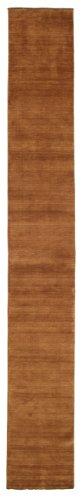 Handloom fringes - Brown rug 2