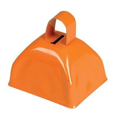 Metal Cowbell Noisemakers - School Cowbells Set 12 Pack - Play Kreative (Orange) (3 Inch Cowbell)
