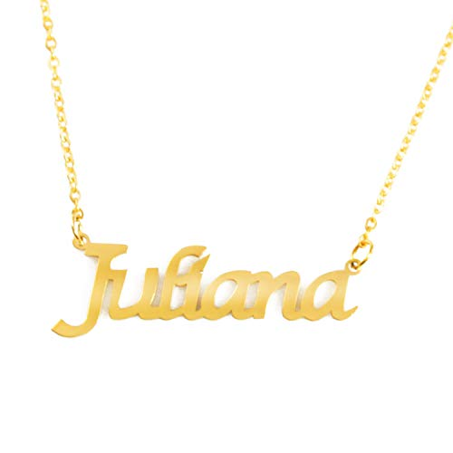 Zacria Juliana Custom Name Necklace Personalized - 18ct Gold Plated