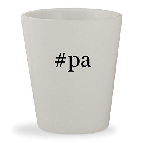 #pa - White Hashtag Ceramic 1.5oz Shot - Newtown Glasses