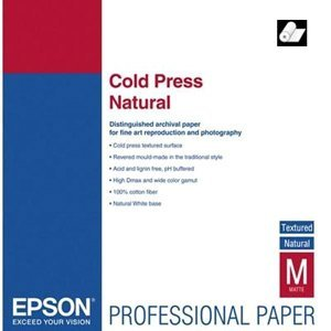 Epson Fine Art Cold Press Natural   Two Sided Smooth Matte Cotton Rag Paper