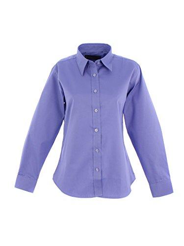 Oxford Manches Pinpoint Chemise 2XL Femmes Noir Uniforme Travail Longues UC703 Travail Bleu Vtements De UtFg5wxq45