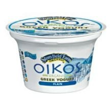 Oikos Organic Plain Greek Yogurt, 5.3 Ounce -- 12 per case.