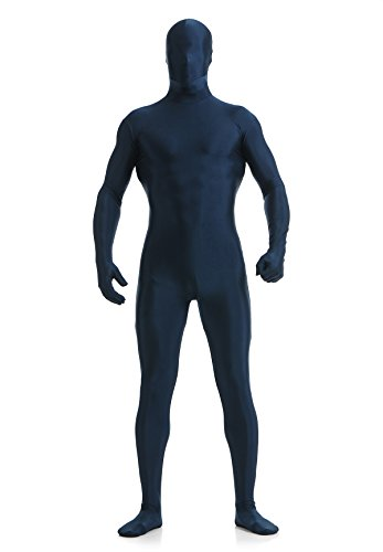 Ensnovo Mens Full Body Tights Suit Costumes Lycra Spandex Zentai Bodysuit Black,S]()