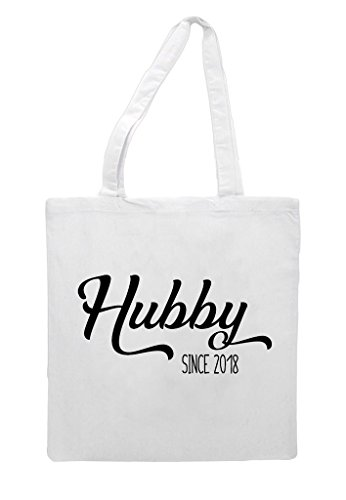 Shopper Party Since White Tote Engagement Gift Hubby Wedding Bag Personalised nx8dInw4aq