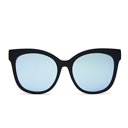 Quay Australia IT'S MY WAY Women's Sunglasses Oversized Cat Eye - Black/Purple Street Chic Women Apparel Retail