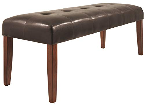 Surprising Ashley Furniture Signature Design Lacey Large Dining Room Bench Upholstered Contemporary Medium Brown Inzonedesignstudio Interior Chair Design Inzonedesignstudiocom