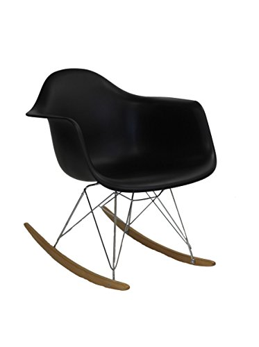 Rocker Lounge Chair - Durable steel base Abs plastic seat Solid wood rocker bottoms - living-room-furniture, living-room, accent-chairs - 31ZEmLtWcbL -