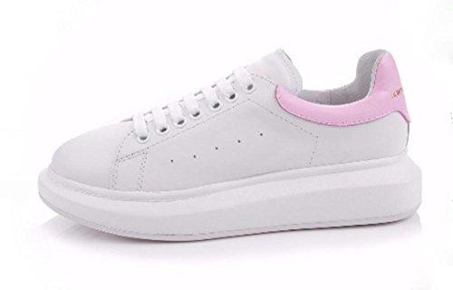 otoño fondo pink deporte encaje zapatos casuales Sra de de femenina grueso zapatos elevadores de zapatos qR64tP6w