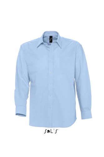 Sols - Boston - Herren Oxford Hemd Langarm , Sky blue , 3XL