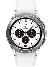 SAMSUNG Galaxy Watch 4 Classic 42mm Smartwatch with ECG Monitor Tracker for Health Fitness Running Sleep Cycles GPS Fall Detection Bluetooth US Version, Silver