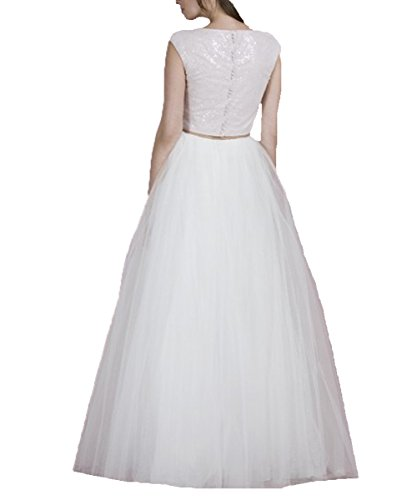 Women's Dress Wedding Gown DYS Dresses Two White Boho Piece ZqzHvwRW