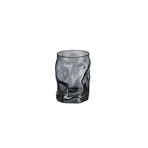 Bormioli Rocco 5188621Source Tumblers Glass Glasses Cups Sprayed, 30cl, Grey