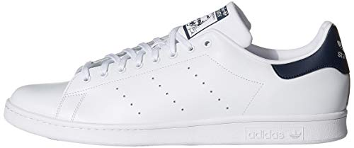 adidas Originals Men's Stan Smith Shoes Sneaker, White/White/Dark Blue, 6.5