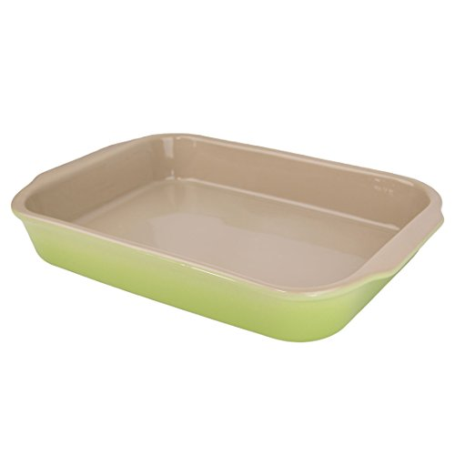 "American Bakeware 13"" x 10"" Rectangular Casserole Baker - Non Stick Ceramic - Heat Resistant to 400 °F - No Metals or other Harmful Materials - Safe for Oven, Microwave, Dishwasher - Made in the USA"