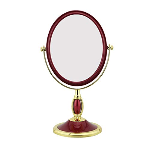 RMXMY Tabletop Vanity Makeup Mirror withTwo Sided ABS Decorative Framed European for Bathroom Bedroom Dressing Mirror (Table- -