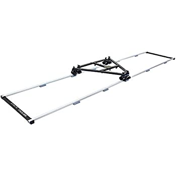 SV-C120-MC Shootvilla Curve-120 Motorized Curved Video Camera Slider for Payload Capacity Upto 12kg with Remote Control System for Nikon Sony Canon Panasonic