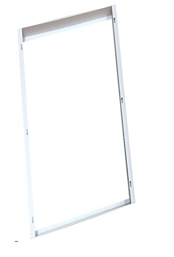 WennoW Commercial Aluminum Surface Mount Kit for 2x2' or 2x4' LED Flat Panel Light for Drop Ceiling Mount (2x4') by WennoW (Image #6)