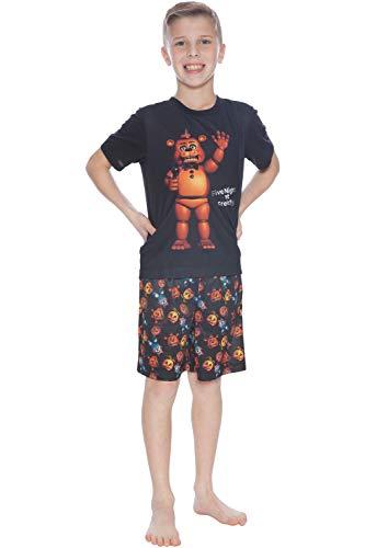 FNAF Freddys Animatronic Mic Night Boys Short Sleeve Short Set XL, Five Nights at Freddys, Large