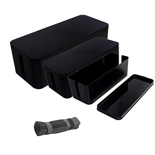 Caja organizadora de cables de alimentación, caja organizadora de cables grande – Caja de alambre para ocultar tiras de...