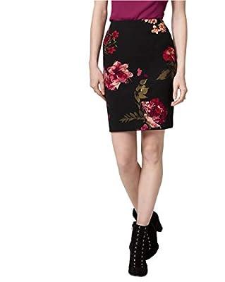 LE CHÂTEAU Floral Print Knit Crêpe Pencil Skirt