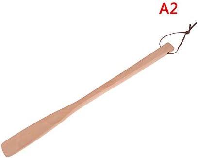 WHZJXB-ZYP プロフェッショナル木製靴べらロングハンドル柔軟な靴ホーン靴スプーン便利な靴リフターホーム工具2色1PCS 40センチメートル (色 : As shown)