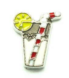Cherityne Lemonade Drink Floating Charm for Locket Pendants