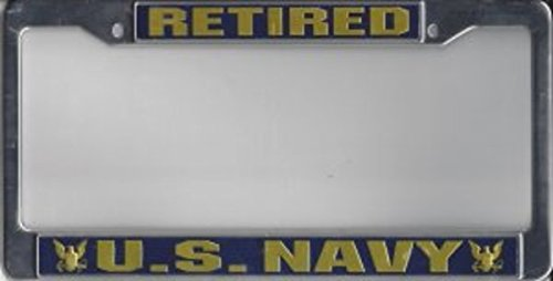 NEW-US-Navy-Retired-License-Plate-Frame