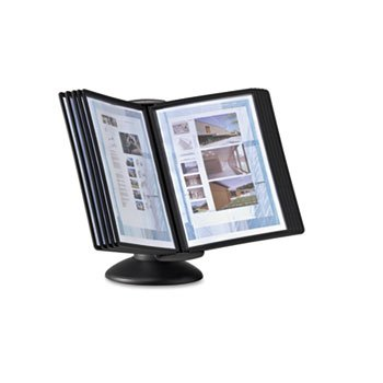 Durableamp;reg; - Sherpa Motion Desk System, 10 Panels, Black - Sold As 1 Each - Ideal for public information areas and shared workstations.