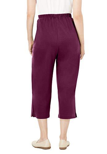 Woman Within Women's Plus Size 7-Day Knit Capri Pants
