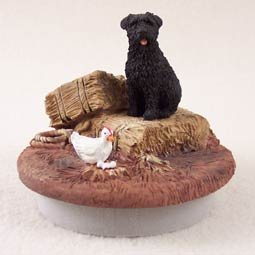 Conversation Concepts Miniature Bouvier des Flandres Candle Topper Tiny One ''A Day on the Farm''