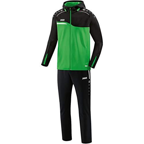 JAKO Survêtement de présentation pour homme Competition 2.0 avec capuche, vert clair/noir, 4XL