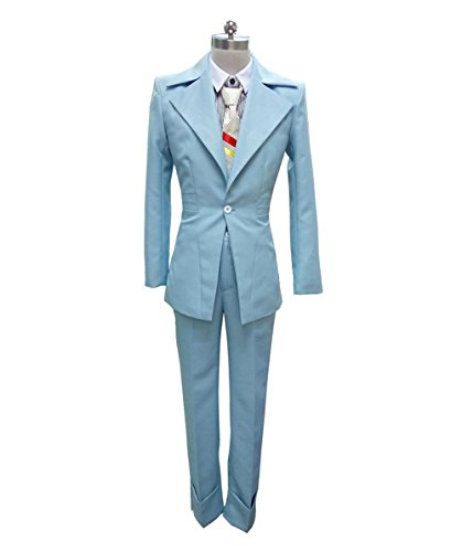 Costume Bowie (Deluxe 70's Legendary British Pop Star Costume, Blue Adult (L))