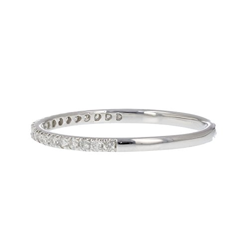 1/6 ctw Pave Diamond Wedding Band in 10K White Gold In Size 5 by Vir Jewels (Image #1)