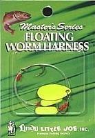 Little Joe Floating Worm Harness - Hot Yellow Blade/Hot Yellow Float