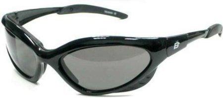 Crow Smoked Motorcycle Biker Glasses Padded Anti FOG - Sunglasses Nr