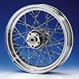 V-Twin Manufacturing Custom Twisted Spoke Front Wheel, 21 x 2.15'' 52-0843