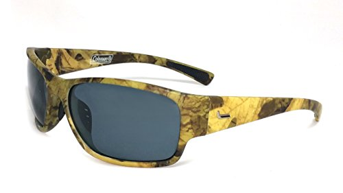 Coleman Predator Camouflage Polarized Rectangular Sunglasses, Bronze, 65 mm by Coleman