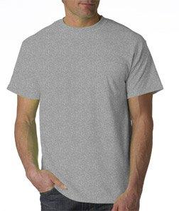 /50 Ultra Blend Pocket Tee Shirt, XL, Sport Grey (50 Ultra Blend Pocket)