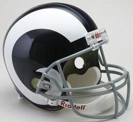 Riddell NFL Los Angeles Rams 1965-1972 Throwback Replica Vsr4 Full Size Football Helmet