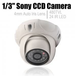 1/3 Sony HD CCD 480TVL 24 IR LED Security Indoor Night Vision Camera White